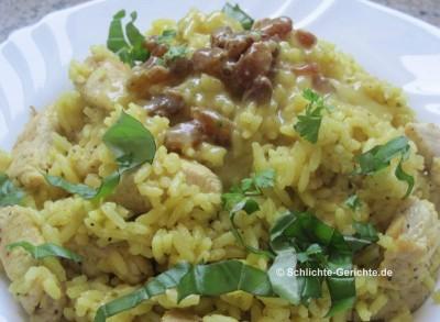 Curryreis mit Geschnetzeltem