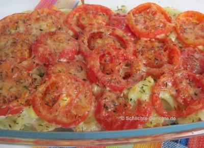 Tomaten-Fenchel-Gratin