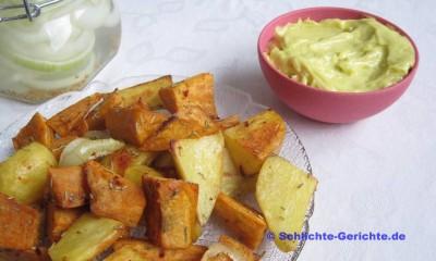 Kartoffelspalten mit Mayo