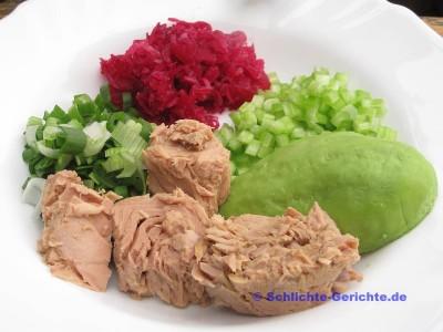 Zutaten für den Thunfischsalat